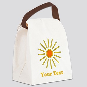 Sun Picture. Custom Text. Canvas Lunch Bag