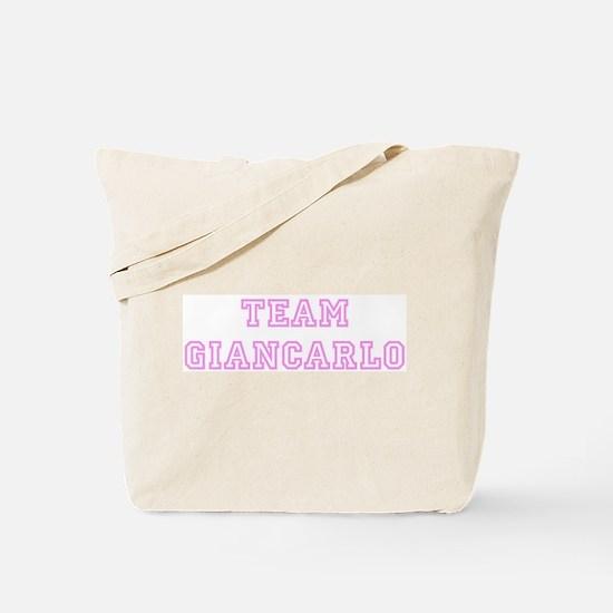 Pink team Giancarlo Tote Bag