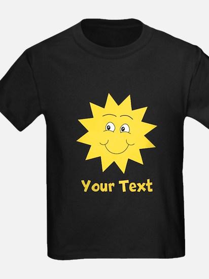 Yellow Happy Sunshine. Text. T