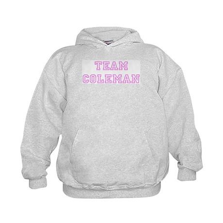 Pink team Coleman Kids Hoodie