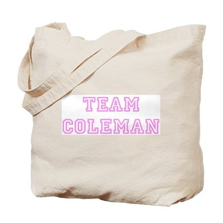 Pink team Coleman Tote Bag