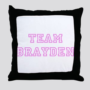 Pink team Brayden Throw Pillow