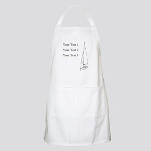 Sail Boat and Custom Text. Apron