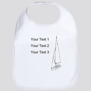 Sail Boat and Custom Text. Bib