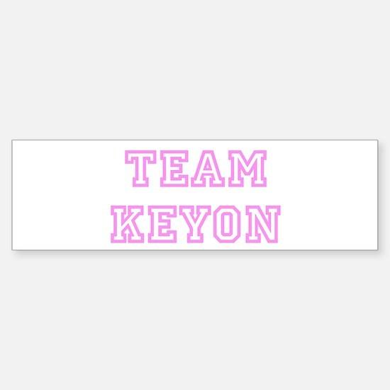 Pink team Keyon Bumper Car Car Sticker