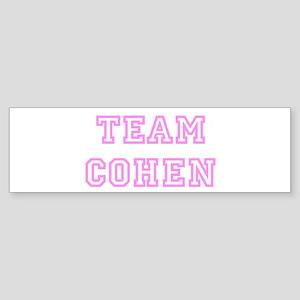 Pink team Cohen Bumper Sticker