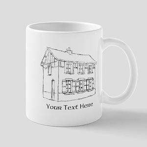Old House. Custom Text. Mug