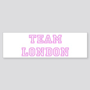 Pink team London Bumper Sticker