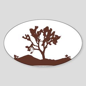 Joshua Tree Silhouette Rectangle Sticker