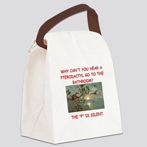dinosaur joke Canvas Lunch Bag
