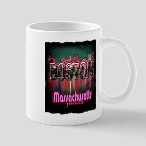 boston massachusetts art illustration Mug