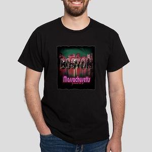 boston massachusetts art illustration Dark T-Shirt