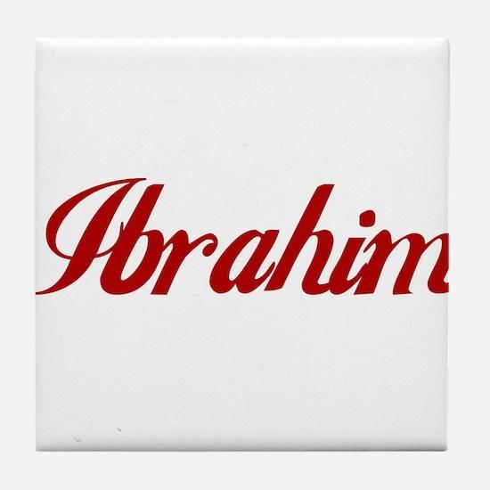 Ibrahim name Tile Coaster
