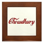 Chowdhury name Framed Tile