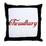 Chowdhury name Throw Pillow