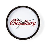 Chowdhury name Wall Clock