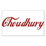 Choudhury name Sticker (Rectangle 50 pk)