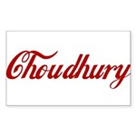 Choudhury name Sticker (Rectangle 10 pk)
