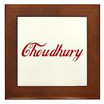 Choudhury name Framed Tile