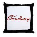 Choudhury name Throw Pillow