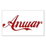 Anwar name Sticker (Rectangle 50 pk)