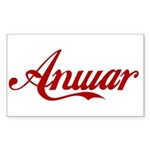 Anwar name Sticker (Rectangle)