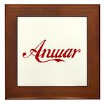 Anwar name Framed Tile