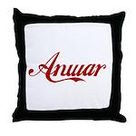 Anwar name Throw Pillow