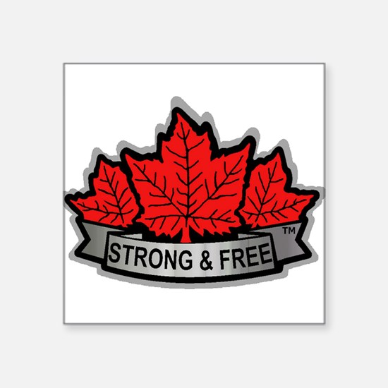 Canada STRONG & FREE Sticker