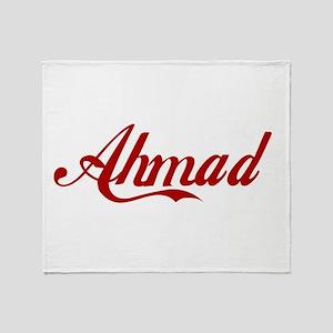 Ahmad name Throw Blanket