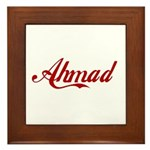 Ahmad name Framed Tile