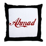Ahmad name Throw Pillow