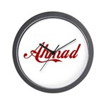 Ahmad name Wall Clock