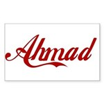 Ahmad name Sticker (Rectangle)