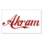 Akram name Sticker (Rectangle 10 pk)