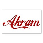 Akram name Sticker (Rectangle)