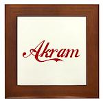 Akram name Framed Tile