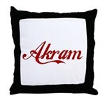 Akram name Throw Pillow
