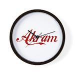 Akram name Wall Clock