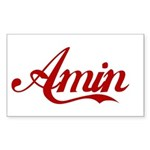 Amin name Sticker (Rectangle)