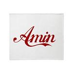 Amin name Throw Blanket