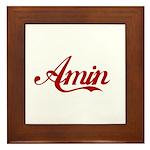 Amin name Framed Tile