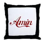Amin name Throw Pillow
