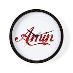 Amin name Wall Clock