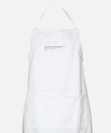 Tattoo-Ready Query BBQ Apron