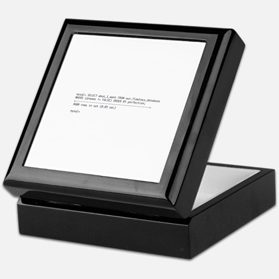 Tattoo-Ready Query Keepsake Box