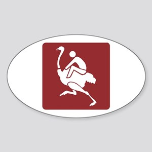 Ostrich Farm&Riding - South Africa Oval Sticker