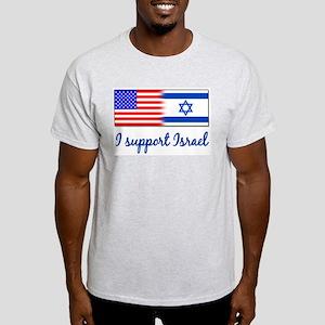 I Support Israel Ash Grey T-Shirt T-Shirt