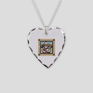 Vegetarian da Vinci Quote Necklace Heart Charm