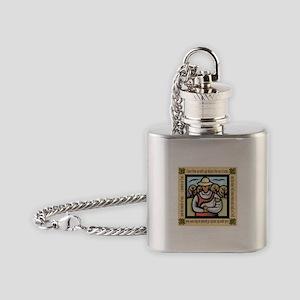 Vegetarian da Vinci Quote Flask Necklace